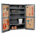 """Organizer"" Heavy Duty Storage Cabinet with Pegboard Panels 38x24x72"