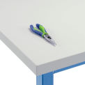 "48"" W x 30"" D x 1-5/8"" Thick, Plastic Laminate Square Edge Workbench Top, Light Gray"
