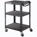 Global Industrial Steel Audio Visual & Instrument Cart - Black
