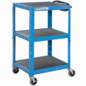 GlobalIndustrial Blue Steel Audio Visual & Instrument Cart