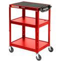 Red Steel Audio Visual & Instrument Cart
