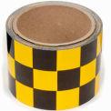 "INCOM® Checkerboard Hazard Tape - Yellow/Black, 3""W x 54'L, 1 Roll"