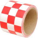 """INCOM® Checkerboard Hazard Tape - Red/White, 3""""W x 54'L, 1 Roll"""