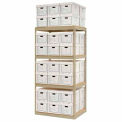 """Record Storage Open With Boxes 42""""W x 30""""D x 84""""H"""