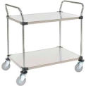 Stainless Steel Utility Cart 2 Shelves 36x18