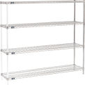 "63""H Nexel Chrome Wire Shelving Add-On - 60""W X 14""D"