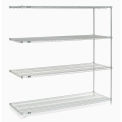 "Nexel Poly-Z-Brite Wire Shelving Add-On 72""W x 21""D x 74""H"