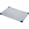 """Nexel S2460SZ Solid Galvanized Shelf 60""""W x 24""""D with Sleeves"""