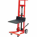 Wesco® Foot Pedal Platform Lift Truck 260009 Four Wheel Style 750 Lb. Cap.