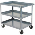 "Three Shelf Steel Stock Cart 30"" L x 18"" W 800 Lb. Capacity"