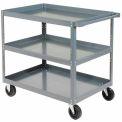 "Edsal HDC3018-3 3 Shelf Steel Stock Cart 30""L x 18""W 800 Lb. Capacity"