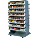 Bin Rack Mobile Double Sided Rack Without Bins