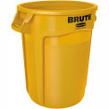 Round Rubbermaid Brute 20 Gallon Trash Container - Yellow
