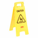 Rubbermaid® Floor Sign 2 Sided Multi-Lingual - Caution
