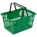 "Plastic Shopping Basket with Plastic Handle, Standard, 17""L X 12""W X 9""H, Green, Good L Corp. ® - Pkg Qty 12"