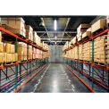 """Husky Rack & Wire 183614443096DA Tear Drop Pallet Rack Add-On With Wire Deck - 96""""W x 36""""D x 144""""H"""