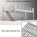 9'H Pre-Engineered Mezzanine With Open Steel Planking