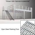 8'H Pre-Engineered Mezzanine (12'W x 64'D) With Open Steel Planking
