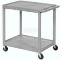 "Gray Plastic Shelf Truck 24"" W X 18"" D X 33-1/2"" H 2 Shelves"