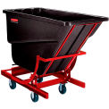 Rubbermaid 2 Cu. Yd. Self Dumping Hopper With Caster Base