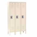 Infinity Locker Single Tier 12x15x60 3 Door Ready To Assemble Tan