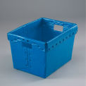 Corrugated Plastic Tote Without Lid 18-1/2x13-1/4x12 Blue