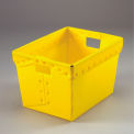 Corrugated Plastic Tote Without Lid 18-1/2x13-1/4x12 Yellow