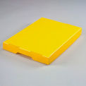 Corrugated Plastic Tote Lid Yellow