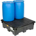 Global Industrial™ 4 Drum Spill Containment Sump with Plastic Deck