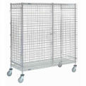 Wire Security Storage Truck 36 X 14 X 69 With Brakes 1200 Lb. Capacity