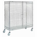 Nexel® Wire Security Storage Truck 60 x 24 x 69 with Brakes 1200 Lb. Cap.