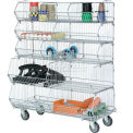 Stackable Bin Rack Removable Wire Bins