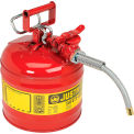 Safety Filling Can Type II with Flexible Nozzle - Two Gallon Galvanized Steel