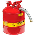 Safety Filling Can Type II with Flexible Nozzle - Five Gallon Galvanized Steel