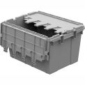 Buckhorn Distribution Container With Hinged Lid 21 1/2x15 1/4x12 1/2
