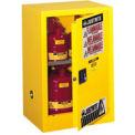 Flammable Liquid Cabinet Self-Close Single Door Vertical Storage