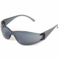 Boas® Eyewear Protection Safety Glasses - Black Frame, Smoke Lens - Pkg Qty 12