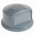 Dome Lid For 55 Gallon Trash Container - Gray