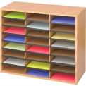 "24 Compartment Wood Literature Sorter - 23-1/2""H Oak"