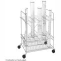 Mobile Blueprint Storage Rack With Chrome Finish
