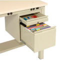2 Drawer Pedestal For Electronic Workstation