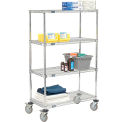 Quick Adjust Wire Shelf Truck 36x24x60 1200 Pound Capacity With Brakes