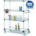 Nexel® Stainless Steel Shelf Truck 36x18x69 1200 Pound Capacity