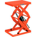 Stationary Powered Double Scissor Lift Table Foot Operated Control 1000 Lb. Cap.