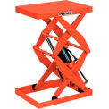 Stationary Powered Double Scissor Lift Table Hand Operated Control 1000 Lb. Cap.