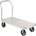 Magliner Aluminum Platform Truck With Diamond Deck 48 X 24 2400 Lb. Capacity