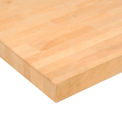"96"" W x 36"" D x 1-3/4"" Thick Maple Butcher Block Square Edge Workbench Top"