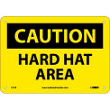"Safety Signs - Caution Hard Hat Area - Rigid Plastic 7""H X 10""W"
