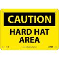 "Safety Signs - Caution Hard Hat Area - Rigid Plastic 7""H X 10""W"