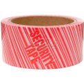 "Printed Security Carton Sealing Tape 2"" X 110 Yards, 2.3 Mil, 36 Rolls/Pack"